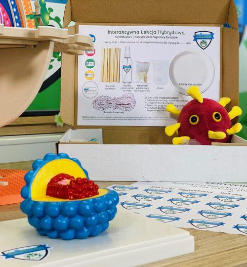 model wirusa germbusters lekcja hybrydowa